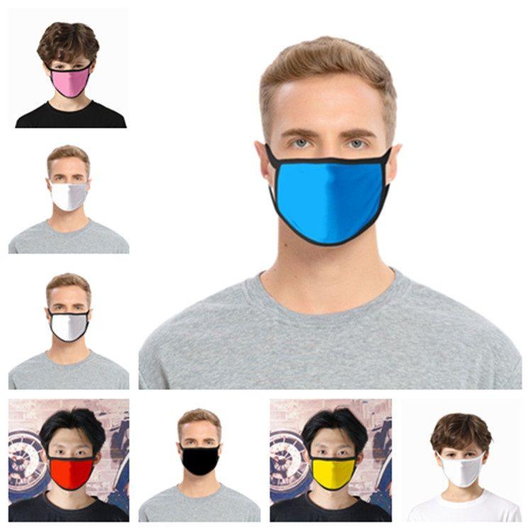 nuova polvere solido di colore bianco maschera facciale nera maschera lavabile maschera del fumetto dei bambini adulti panno maschere curvetta Designer T2I5943