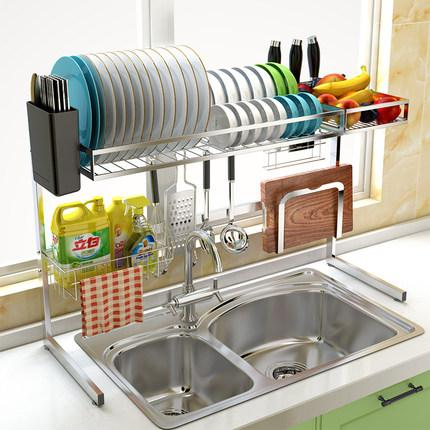 2019 304 Stainless Steel Sink Drain Shelf Dish Rack Kitchen Storage Rack  Drying Bowl Put Bowl Rack Pool Top Shelf From Victoria1985, $136.06 | ...