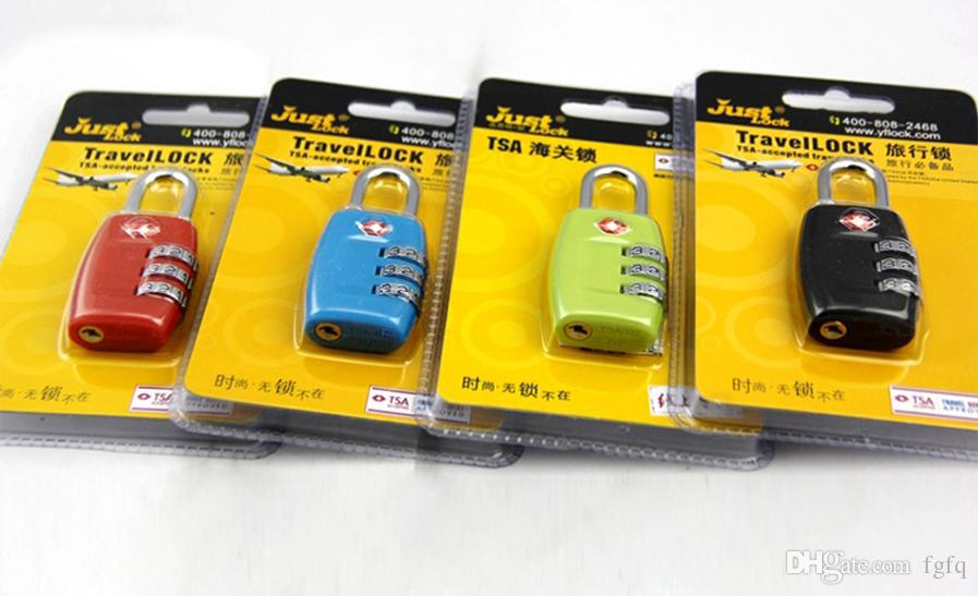 TSA Luggage Locks Digit Metal Resettable 3 Digit Combination Padlock Suitcase Outdoor Travel Lock TSA locks 7 Colors