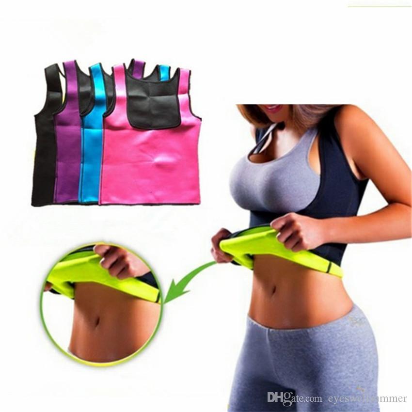 Femmes Body en néoprène amincissants Push Up Gilet taille Entraîneur Tummy ventre Ceinturon corps chaud Serre-taille Corset