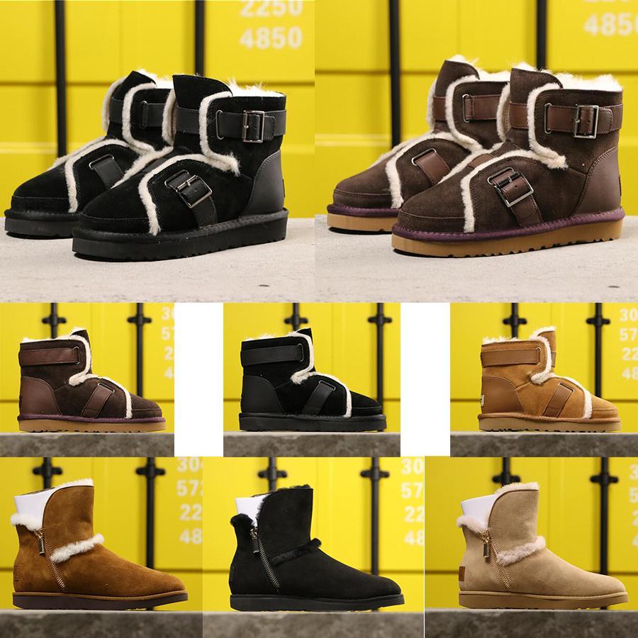 Designer WGG donne Winter Snow Boots Australia Alto Breve Inginocchiarsi caviglia Nero Grey Castagno Blu Navy caffè rossa poco costoso signora Girl 36-40 # 09c6d #