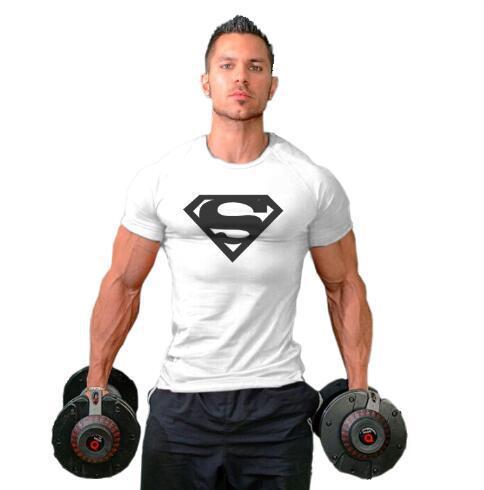 Erkek T-Shirt moda erkek nefes Superman baskı Ince gömlek 2020 yeni rahat erkekler ekip boyun T gömlek 12 renkler Eur boyutu M-2XL