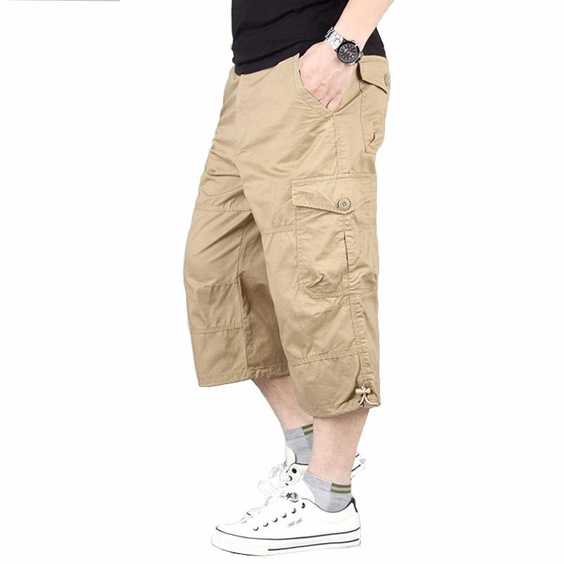 Herren Shorts Sommer Military Strand Shorts Tactical Hose Cargo-Multi Pocket Shorts lose Klettern Trekking Hose Y200511