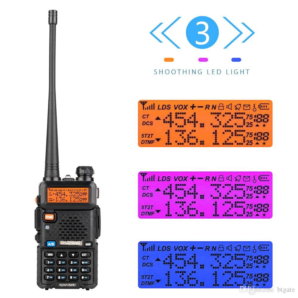 6 шт Baofeng BF-UV5R 5 Вт двухдиапазонная рация с наушниками для междугородной беседы полевые наружные средства связи