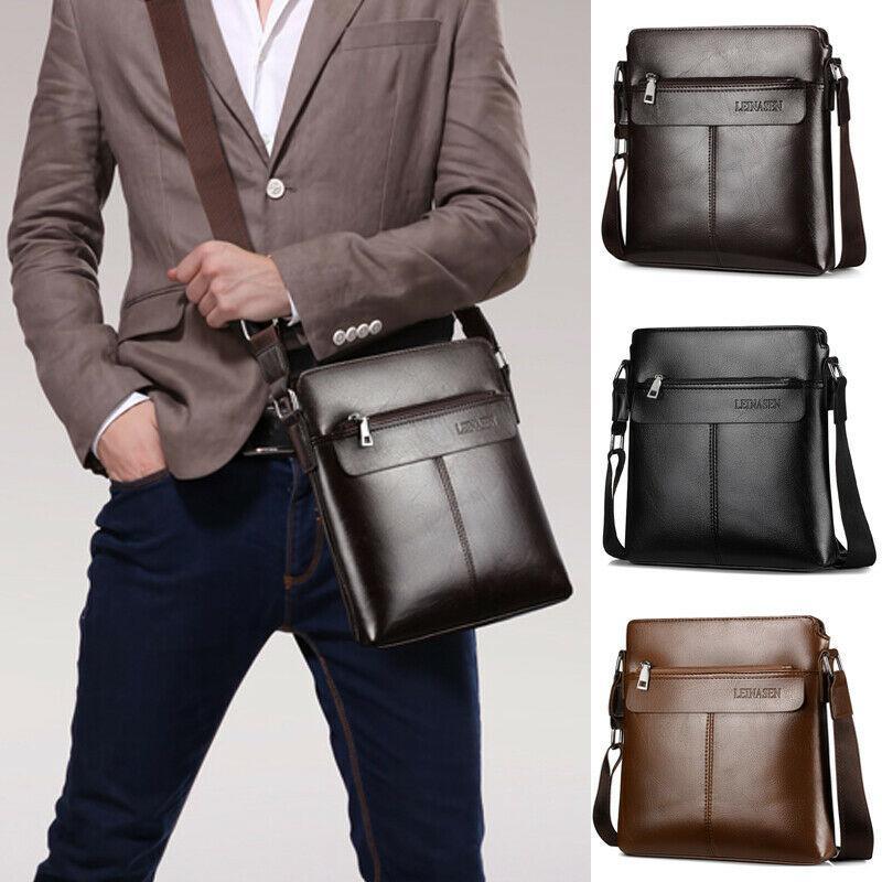 Homens Messenger Bag Ombro Casual Negócios Couro para Boy Masculino viagem Crossbody