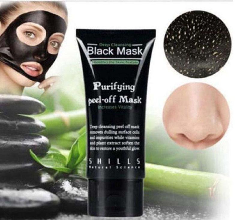 Sıcak kaldır Siyah noktaları Akne Tedavisi Mineral Siyah Çamur Yüz Burun Membranlar Maske