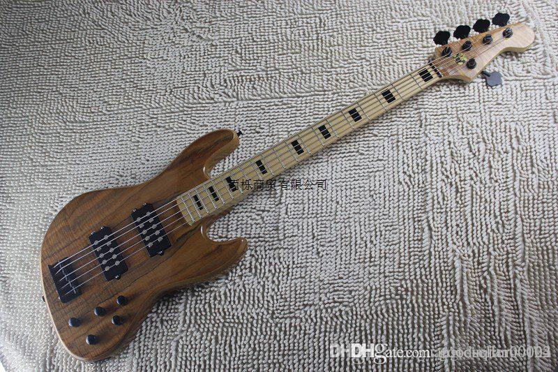 hgfrt Flamme Ahorn Burlywood mit aktiver Tonabnehmersystem Qualität Erdlogo elektrische Bassgitarre