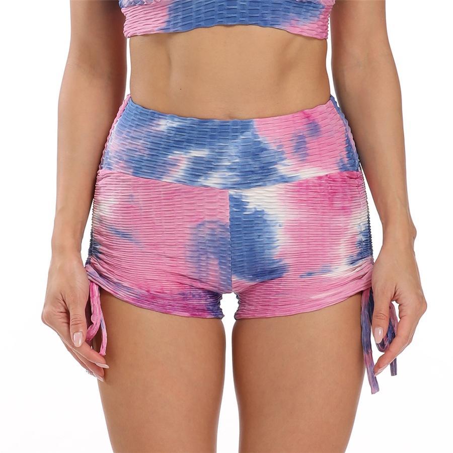 Vcc Mall Bayanlar Spor Yoga Bluz Pantolon Suit # 939 Koşu Yüksek Bel Kalça Alt Pantolon yazdır