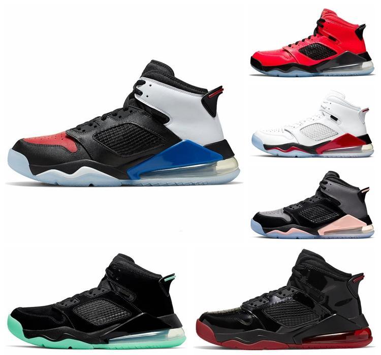 NIKE Jordan Ucuz Mars 270 S basketbol ayakkabıları erkekler Için Bred 3 Yangın Kırmızı üzüm Shattered Backboard Kızılötesi 23 narenciye tasarımcı Eğitmen spor Sneaker boyutu 40