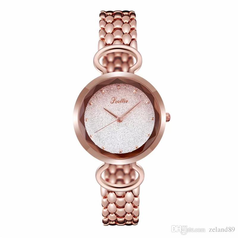 Nouvelle montre pour femme Scottie à quartz 2019, la surface du dégradé brille sur la montre pour femme, ce qui signifie que tout arrivera