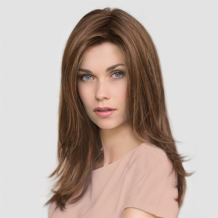 Европейский и американский стиль внешней торговли женский парик золотисто-коричневый полосатый градиент окрашенные длинные вьющиеся волосы парик волос оптом поколение