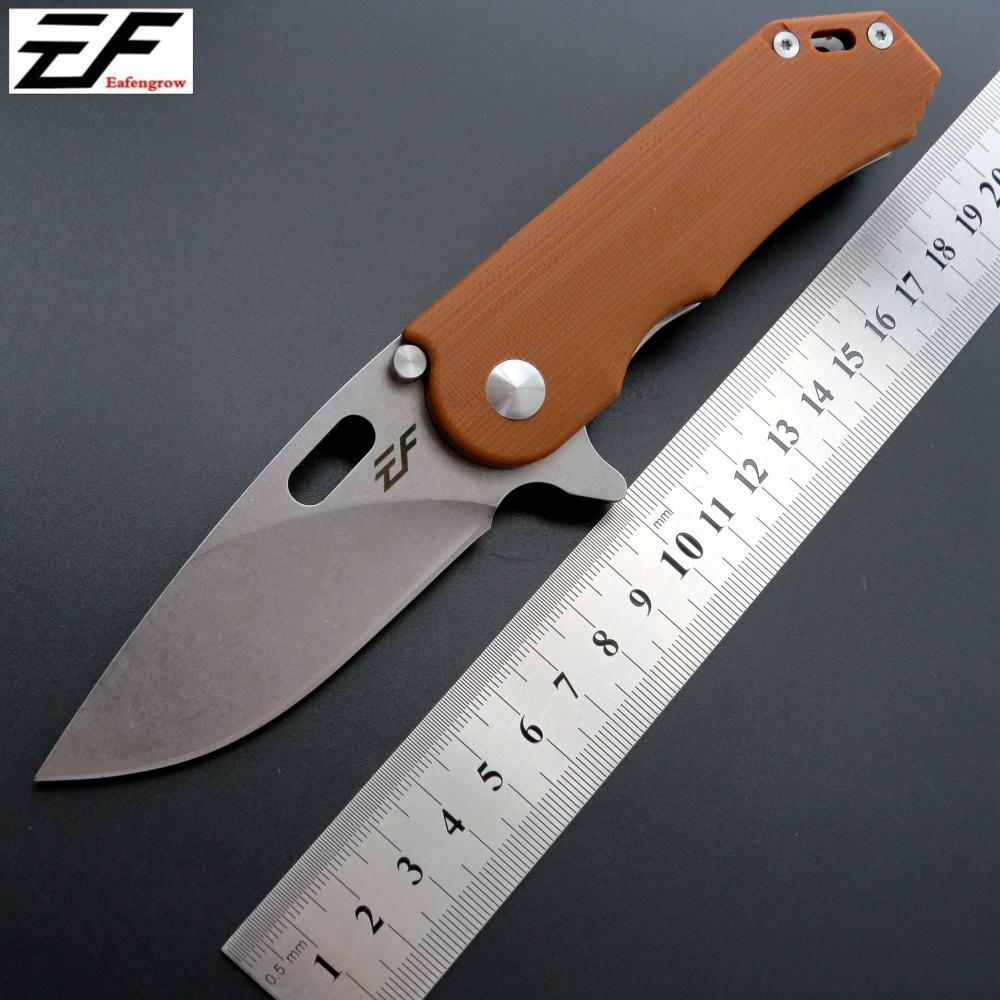 Eafengrow EF32 58-60HRC D2 Blatt G10 Griff Klappmesser Überlebens-kampierende Werkzeug-Jagd-Taschenmesser taktische edc im Freien Multi-Tool faca