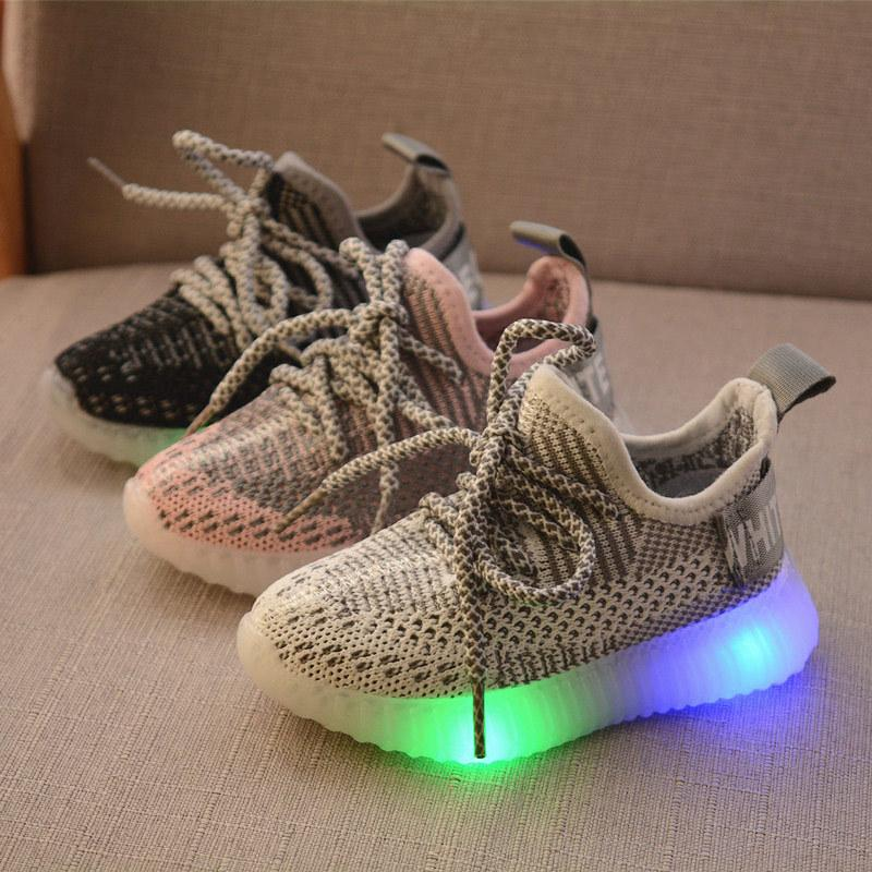Size 21 30 Kids Led Glowing Shoes For