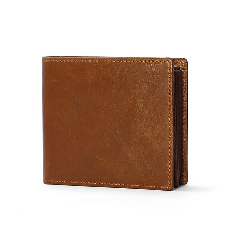 Кожа мужчины бумажник кошельки RFID блокировка противоугонные двойные человек Genuin кожа держатели кредитных карт бизнес короткие денежные мешки мужской