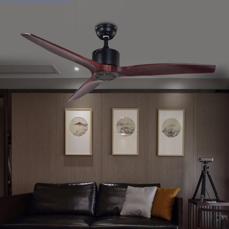 52 pouces Village ventilateur de plafond avec Grenier Télécommande sans lumière Ventilateur Décoration Home Fan 220v Ventilador De Techo