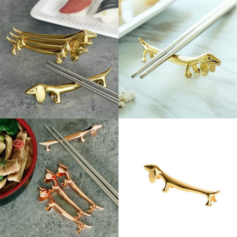 Titolari di stoviglie di colore dorato Cani Bacchette per modellismo in lega di zinco Colori del nastro Coltelli Forchette Palette Scaffali di stoccaggio 5 5sh L1