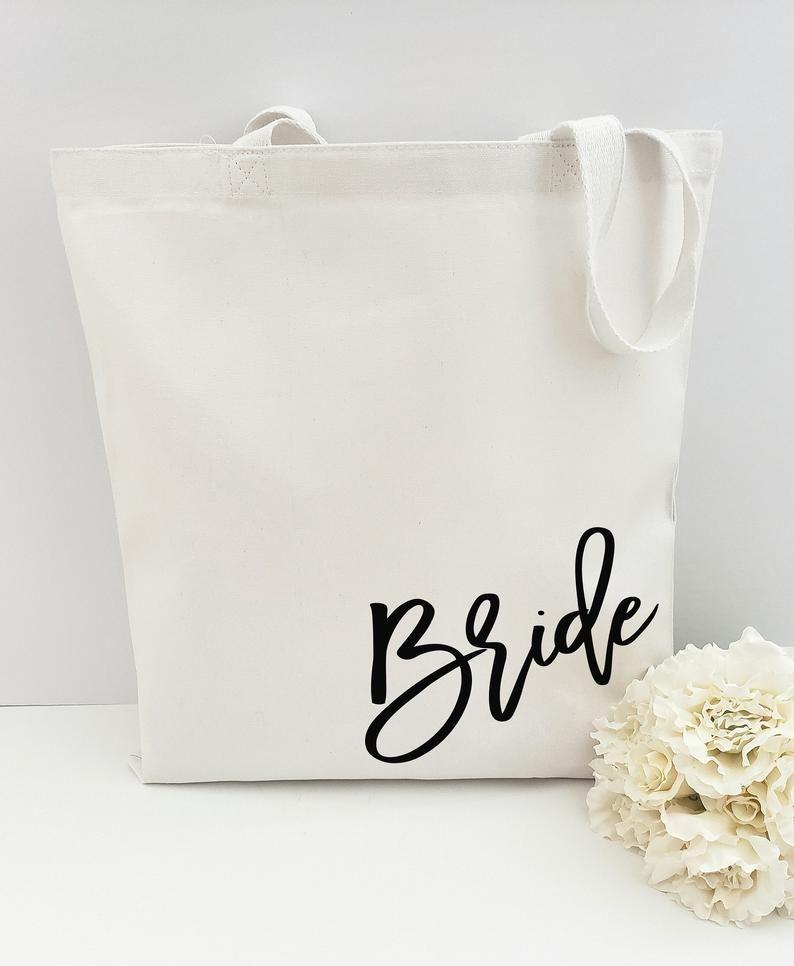Bride Tote Bag Bride Bag Maid of Honor Bridal Shower Wedding Tote Bridal Party Gift| Bridesmaid Sale Customized gift