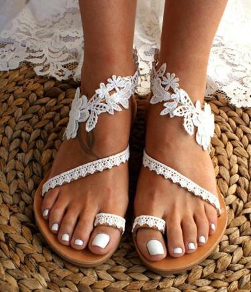 Women summer Sandals dlippers Flat shoes lace Open Toes solid Female Slides Beach Sandas beachwear Bohemia Platform Cross-Tie Cross-Tie 0053