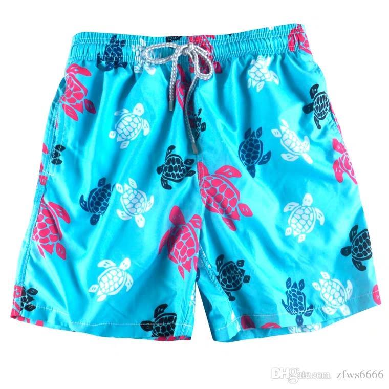 Vilebrequin mens Pantaloncini da spiaggia Vilebrequ pantaloncini 79 marchio Costumi da bagno polpo stella marina Turtle stampa maschile Pantaloncini da bagno Asciugatura rapida Vilebre