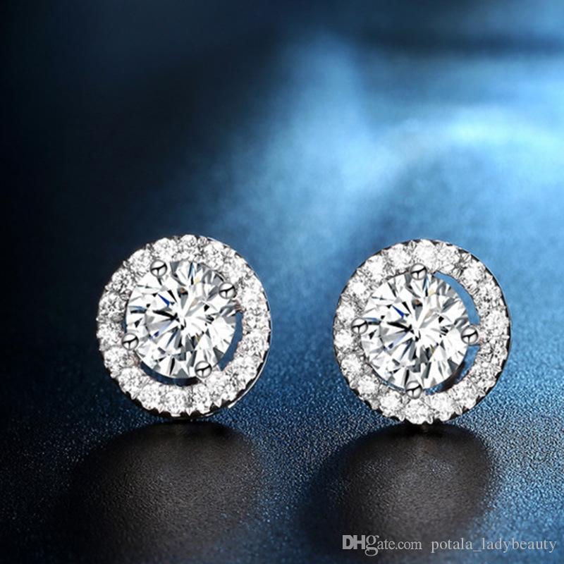 الماس الكامل أقراط البوهيمي جميلة النمسا كريستال كاملة CZ الزركون بنات السيدات المرأة العصرية مجوهرات اكسسوارات هدايا عيد الحب