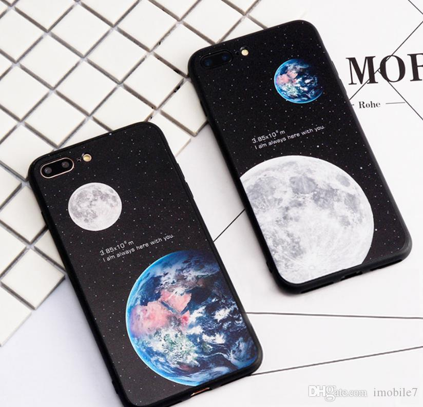 Shell transparent couvre l'univers créatif de papier peint de planète pour Iphone 6 6s 7 plus iphone xs plus