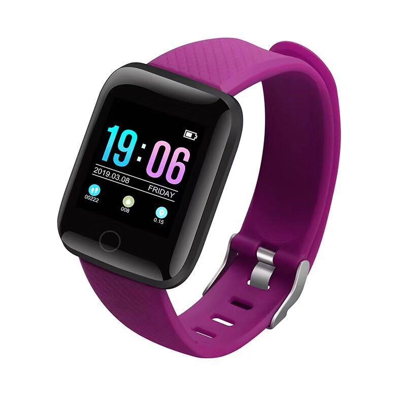 Akıllı Saatler 116 Artı ID116 D13 Kalp Hızı İzle Bileklik Spor Saatler Akıllı Bant Su Geçirmez Smartwatch Android Perakende Ambalaj