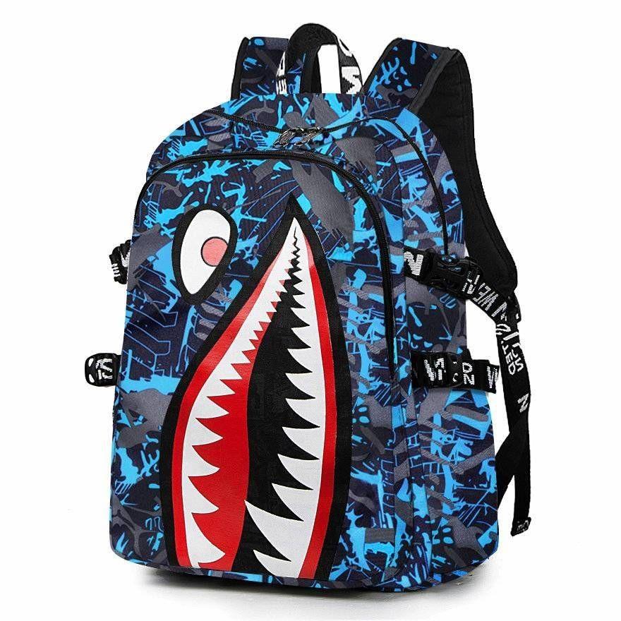 جديد وصول القرش حقيبة بوي فتاة الحقائب المدرسية للطلاب عالية الجودة الرجال النساء السفر قدرة كبيرة حقيبة كمبيوتر محمول