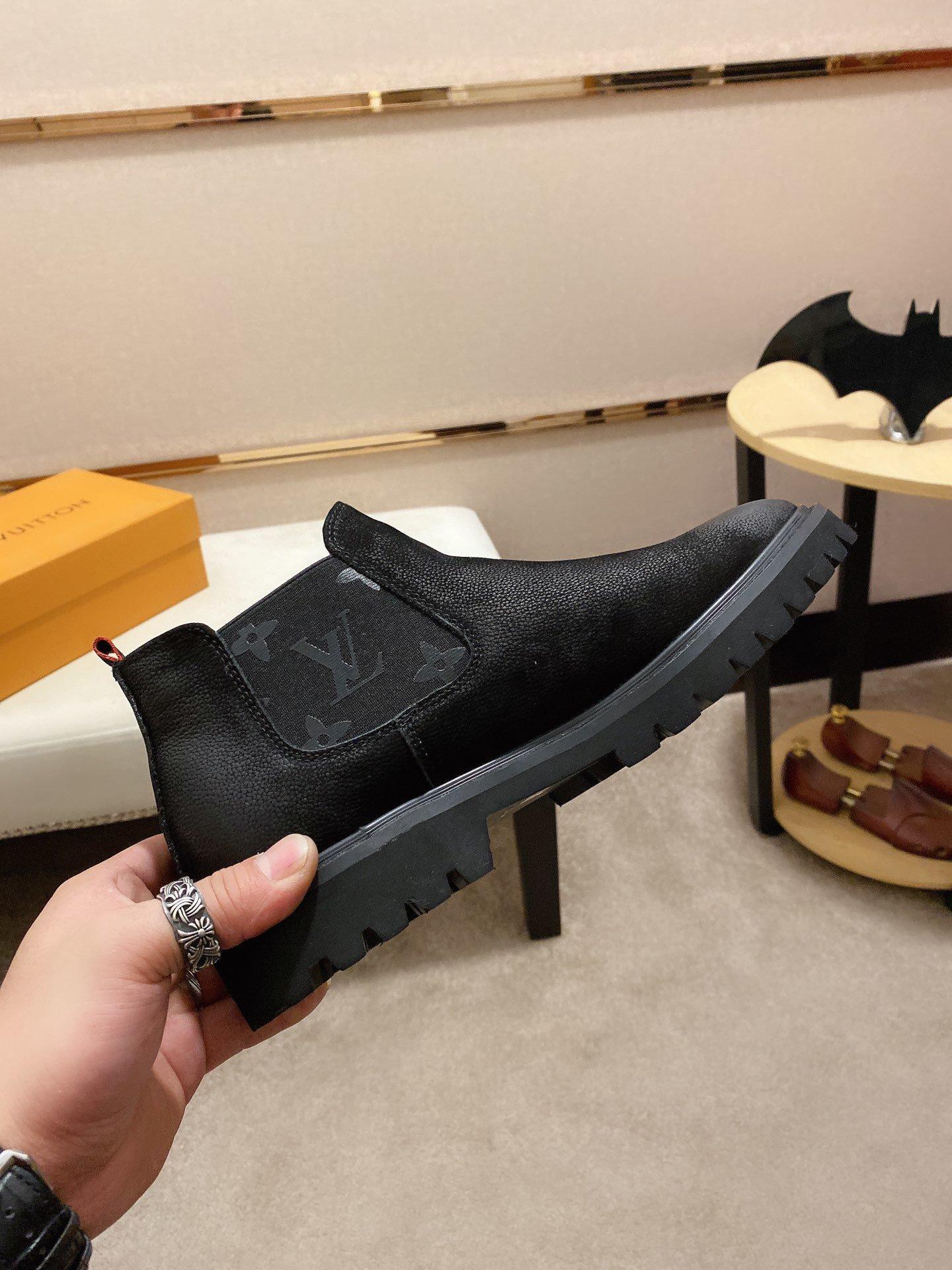 2020G Moda rahat ayakkabılar yüksek kaliteli erkek botları rahat kalın yün kış sıcak lüks ayakkabı Zapatos Hombre ambalaj orijinal kutusu