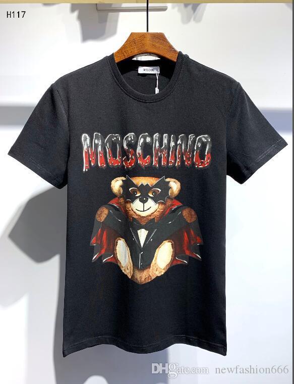 20ss vendere bene Uomo Marca Mens T-shirt progetta il breve manicotto della tigre di stampa e di Hip T-shirt Hop