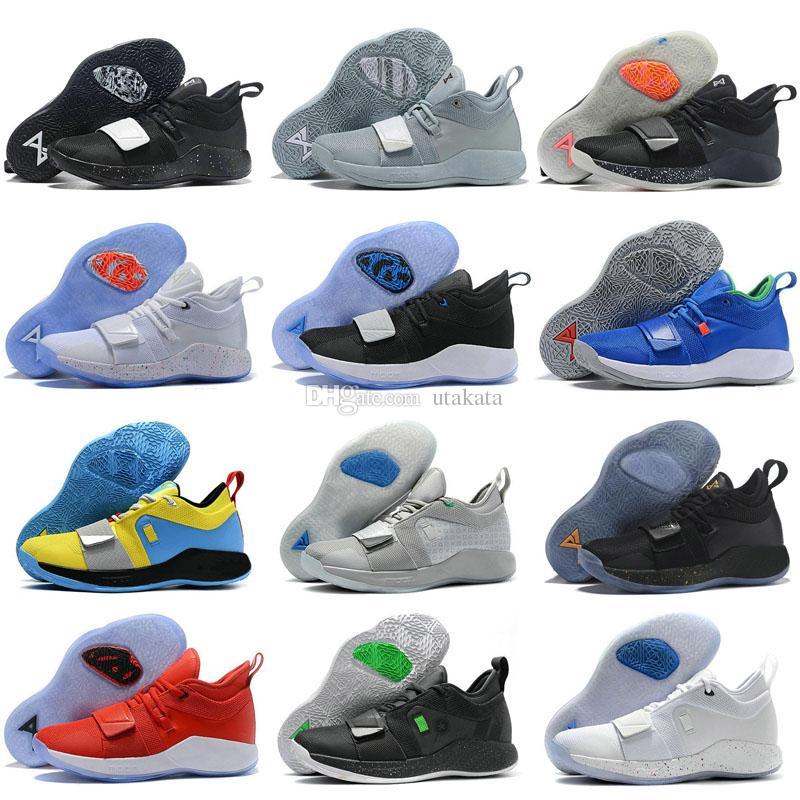 PlayStation PG 2.5 X University Red MOON EXPLORATION PG 2 Racer Blue Amarillo White Black Grey MVP Mens Paul George Shoes 7 12 Basketball Shoes Women