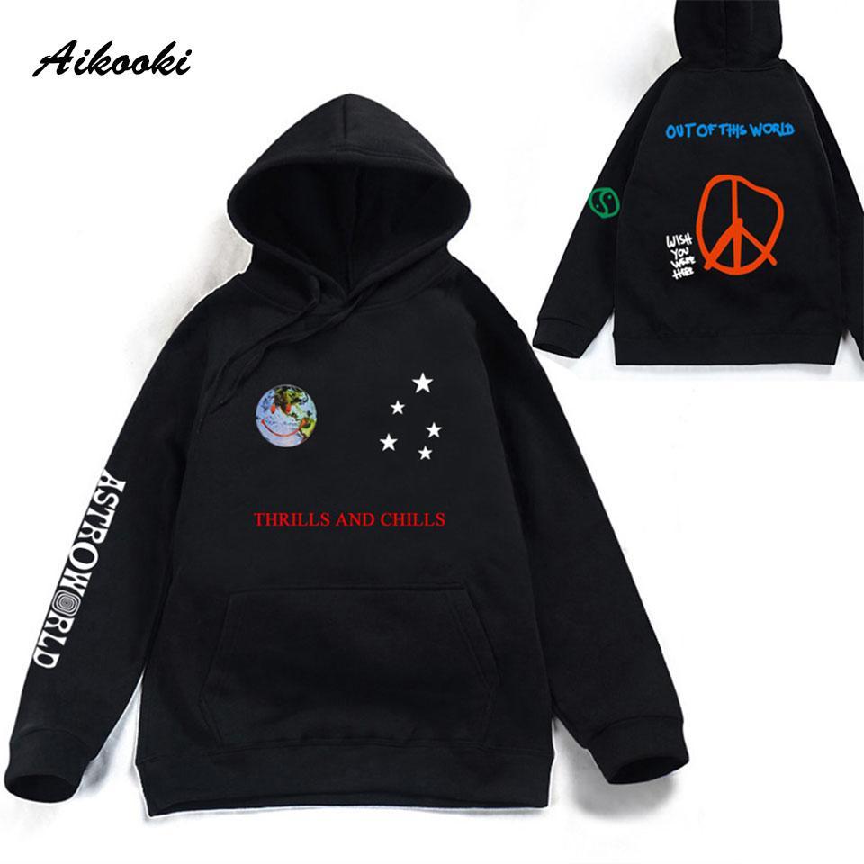 Aikooki Astroworld frissons dans le dos Sweat-shirts hommes / femmes Streetwear Pull Travis Scotts Mode Vêtements Hip Hop