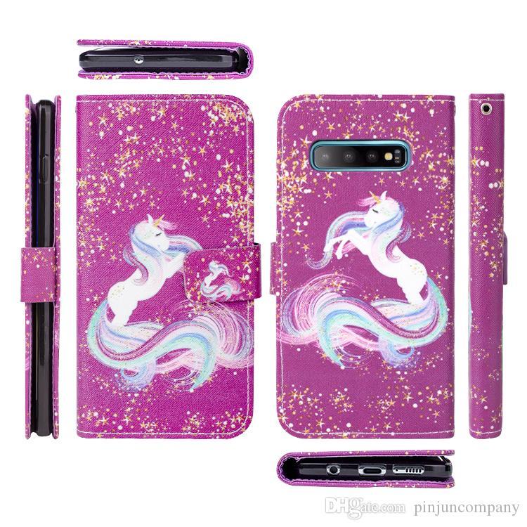 для LG дани империя Бумажник телефон чехол для Samsung Galaxy S10 S10e S10 Plus печатного Cute Pink Pig PU кожи стенд откидной крышки