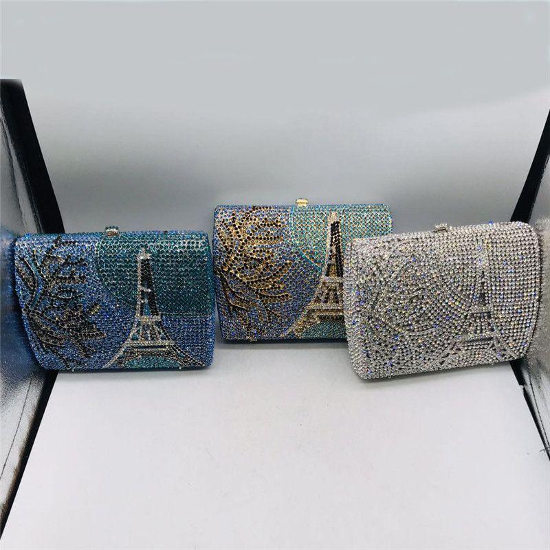New Fashion Damen Handtaschen Frauen Luxuxdiamanten Abend Strass Hochzeit Kleid Braut Diamant-Ketten-Schulter-Handtaschen