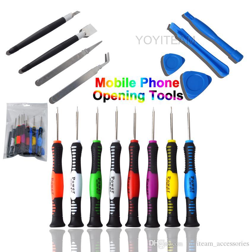 2811 outils d'ouverture univerral 16 en 1 tournevis polyvalent pour smartphone iphone huawei samsung avec emballage de détail