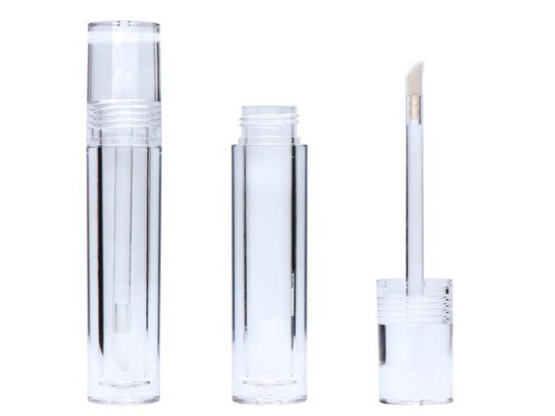 Esvaziar 7,8 mL Lipgloss tubos redondos transparente Lip Gloss tubos com Wand esvaziar Lip Gloss tubos transparentes transporte rápido