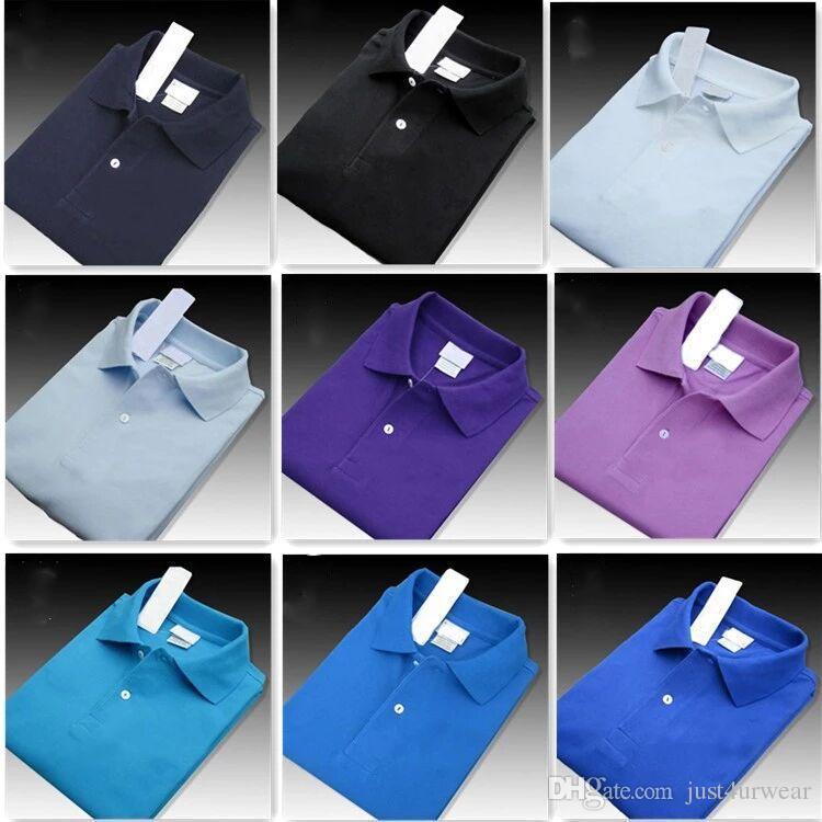Mens T-shirt classica casuale di stile di modo manica corta colorata Solid Tee estivo Top Abbigliamento XS-XXXXL