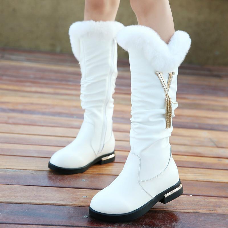 Children Boots Girls Genuine Leather