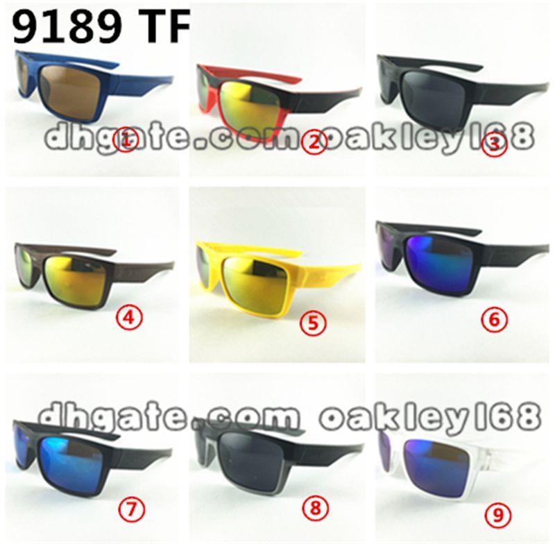Fábrica caliente 009189 Marca Verano Hombres Montar en bicicleta Gafas de sol de conducción Gafas de ciclismo Mujeres y hombre Gafas bonitas Gafas 9 colores