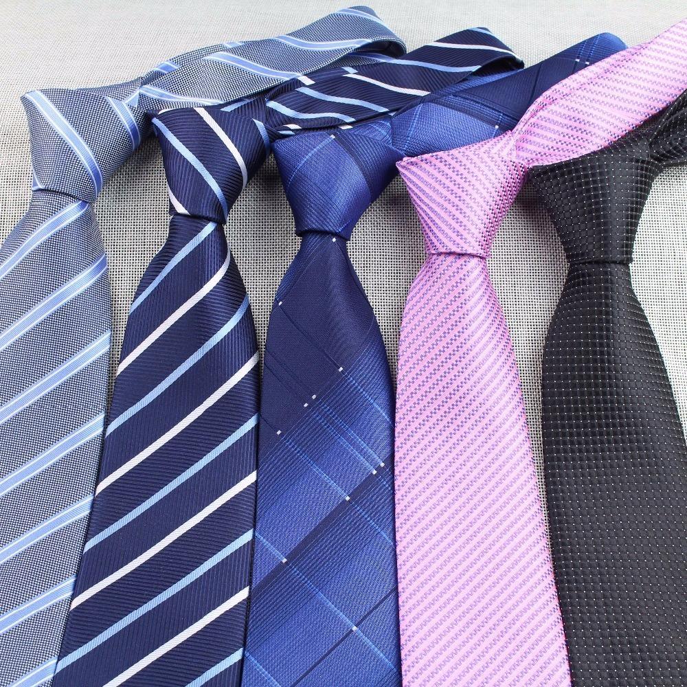남자 사업 동점 형식적인 줄무늬 점 자카드 직물 결혼식 넥타이 8CM 고전적인 코바타 목옷