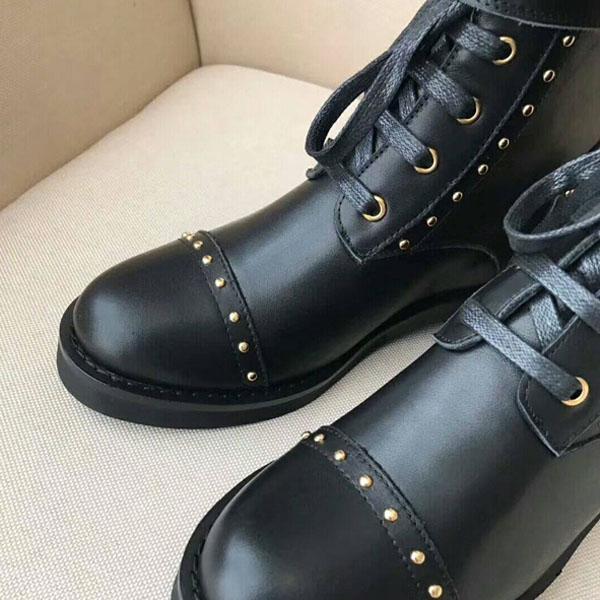 Venta caliente botas de las mujeres-Martin medalla de amor 100% cuero auténtico Moda flamencos gruesa mujer desierto de arranque de invierno zapatos de lujo del cuero US4-11