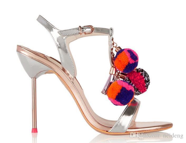 Sıcak Satış-YENİ Yüksek kaliteli Peep Toe Balosu'nda Dantel-up Tasarım Bilek payetli Wrap Kadınlar Gladyatör Sandalet İnci Topuk Parti Ayakkabı Kadın giyerek