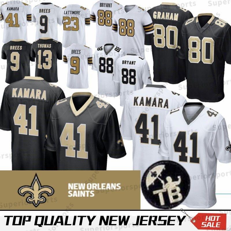 2019 41 Alvin Kamara New Orleans Saints Jerseys 9 Drew Brees 13 Michael Thomas 28 Adrian Peterson 23 Marshon Lattimore 88 Dez Bryant Stitched From