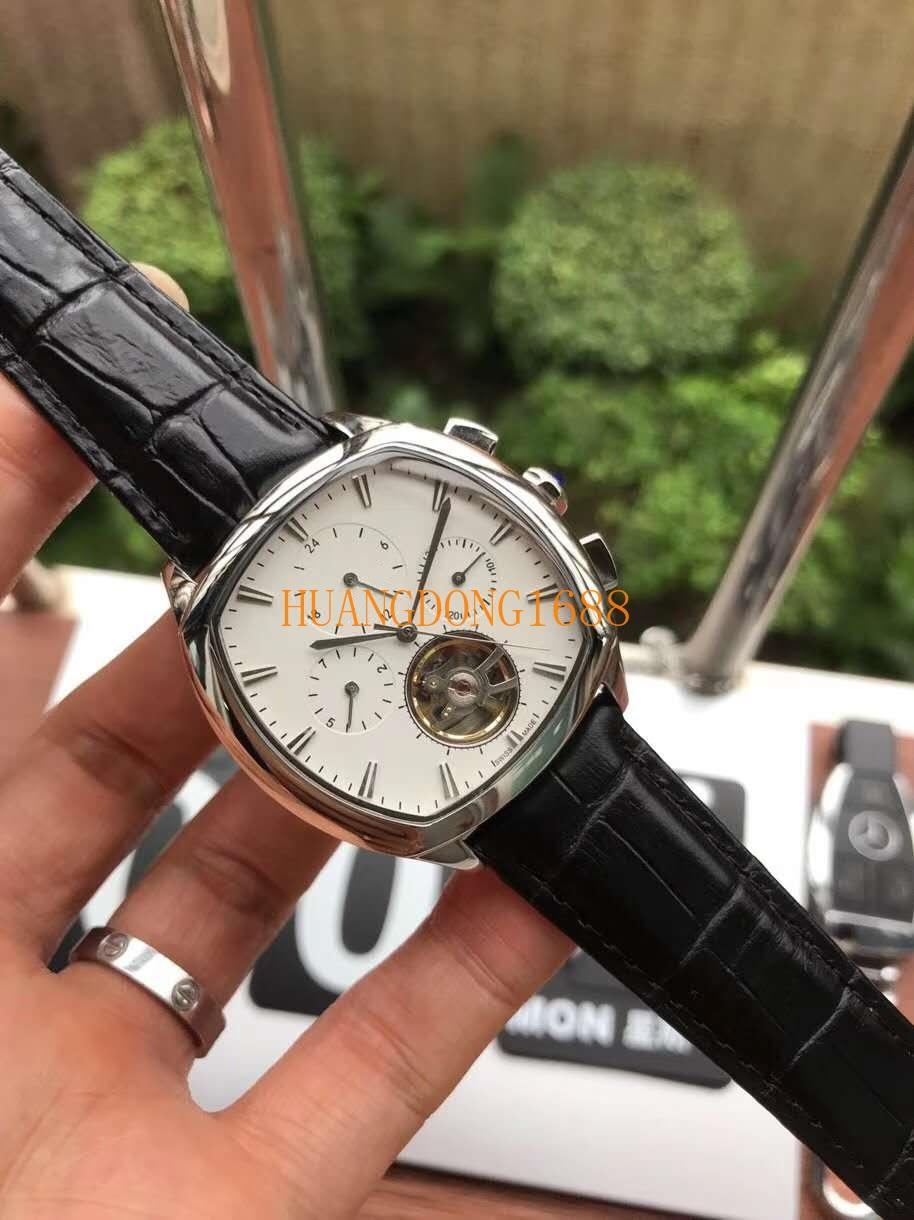 Взрыв Полностью автоматические механические шестигранные мужские часы Модные часы из минерального армированного стекла
