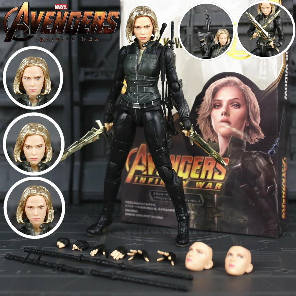 "New In Box Marvel Avengers 3 Infinity War KO S.H. Figuarts SHF Black Widow 6"" Action Figure Scarlett Johansson Legends Doll Toys"
