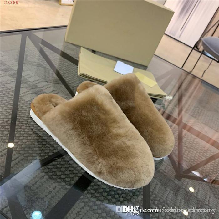 tendência Mens chinelos de pelúcia clássico, quente e confortável em casa e fora dos chinelos de pelúcia apropriadas para a metade casuais chinelos