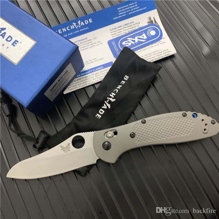 BENCHMADE-550/551 AXIS System Folding knife G10 handle 20CV Blade Outdoor Hunting Pocket Knives BM810 BM555 BM940-1 EDC Knifes