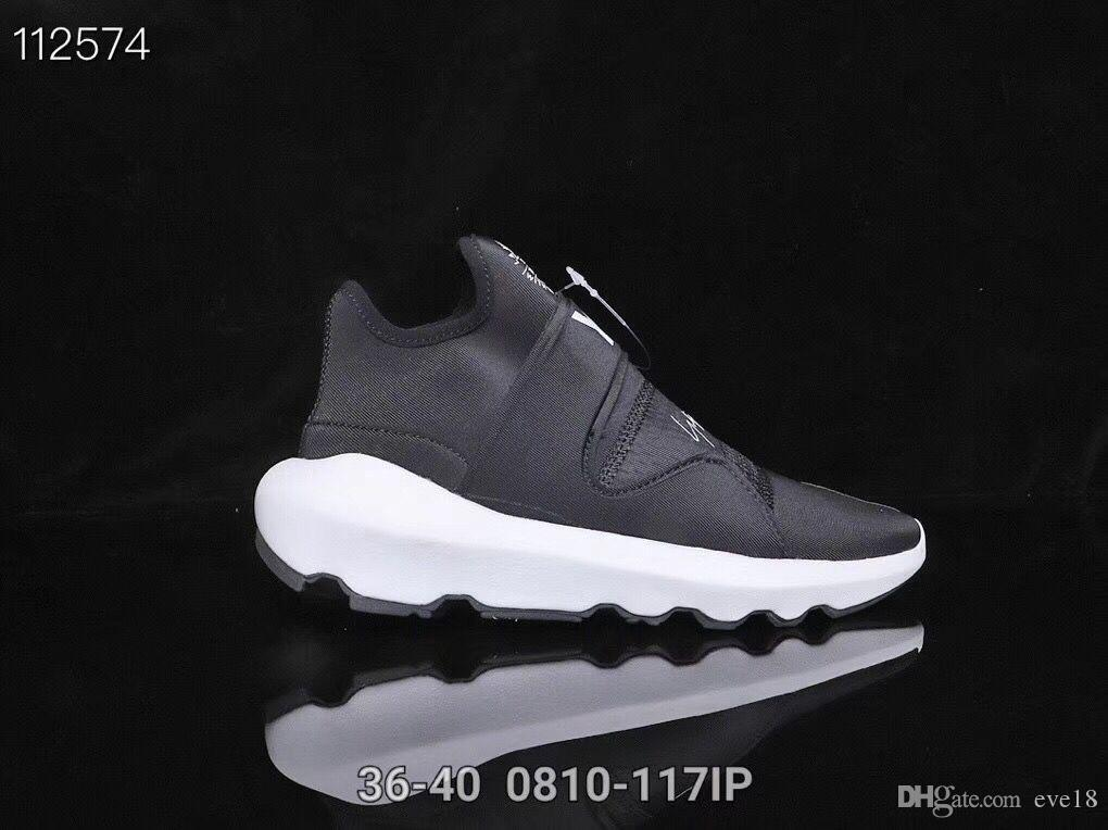 Rahat Ayakkabılar Y-3 QASA RACER Yüksekliği Sneakers Nefes Erkekler ve Kadınlar Rahat Ayakkabılar Çiftler Y3 Açık Eğitmenler Boyutu Eur40-44 Ücretsiz kargo