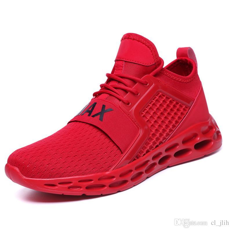 Gros 2020 haute qualité sauvages chaussures de créateurs de mode respirant noir hommes rouge bleu léger chaussures de sport
