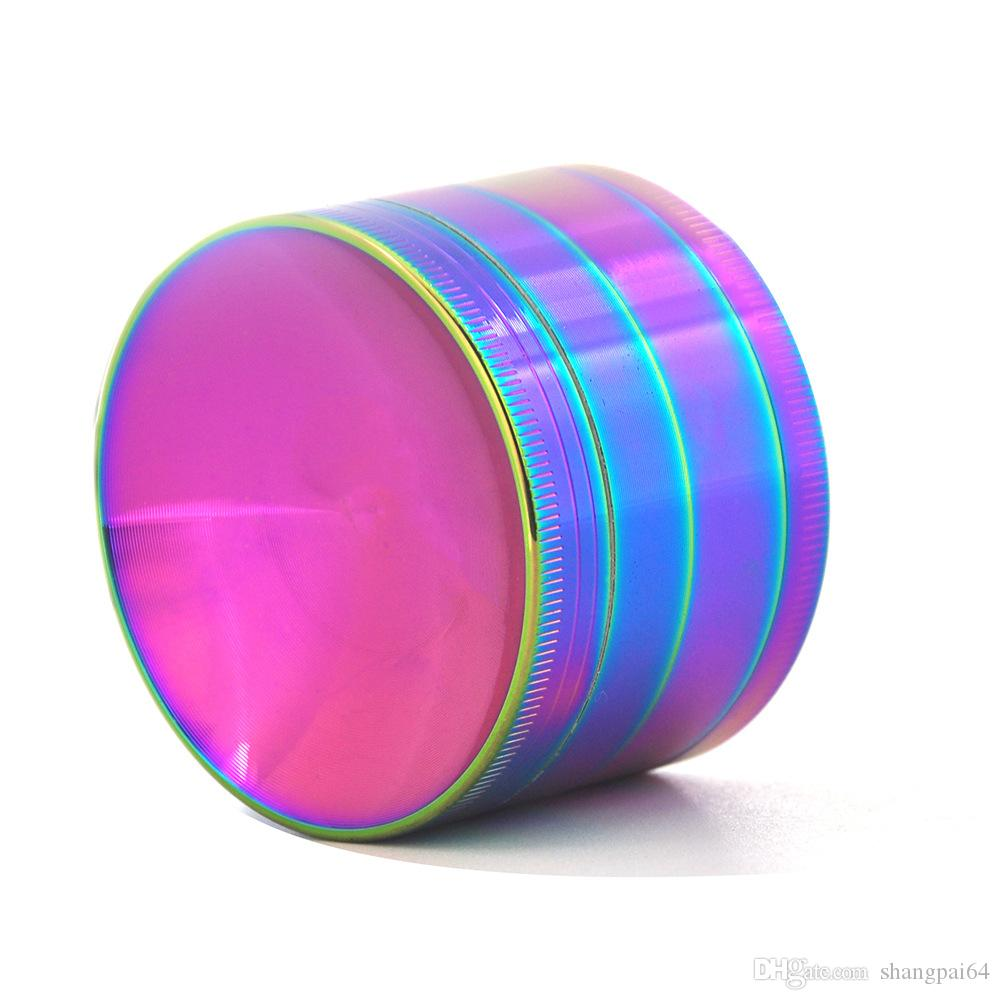 Rainbow Color Zinc Alloy Concave Tobacco Grinder Concave Herb Grinder Herb Spice Crusher 40mm 50mm 55mm 63mmTobacco Grinder