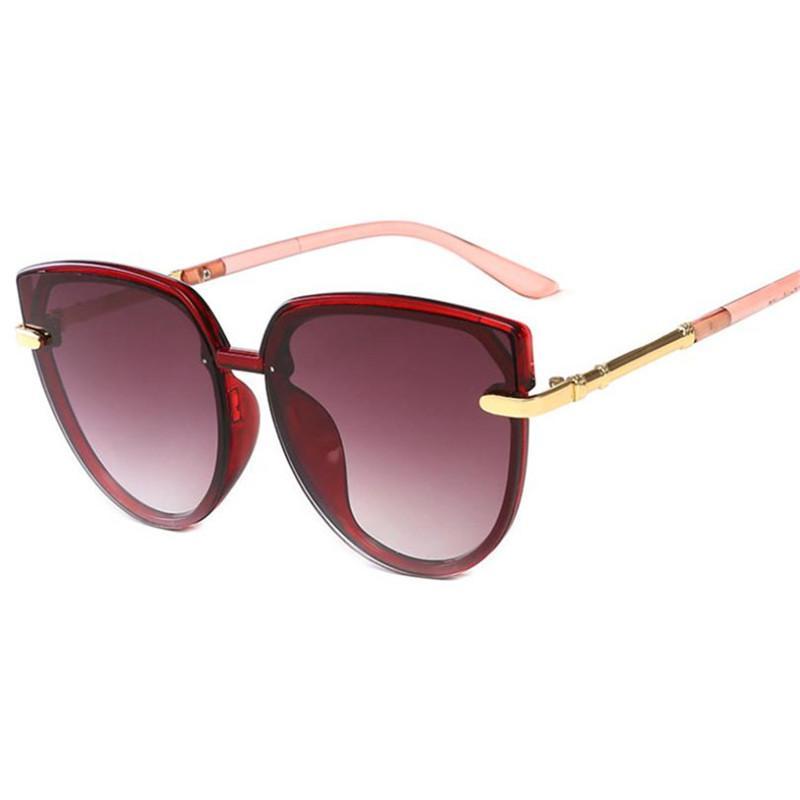 Moda A ++ Donne Telaio Occhiali da sole Ottime Oversize Anti-UV Goggle Eye Occhiali Sole Occhiali Gatto Uomo Eyeglasses Adumbral Occhiali da sole Occhiali Bhcqa